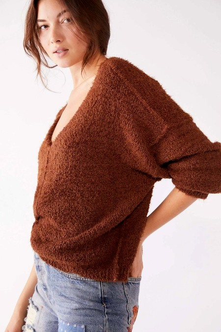 Free People Icing Pullover - Mocha Java