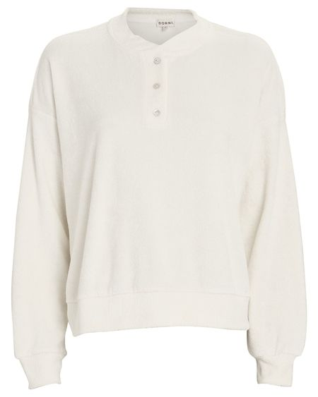 Donni. Terry Henley Sweatshirt - Ivory