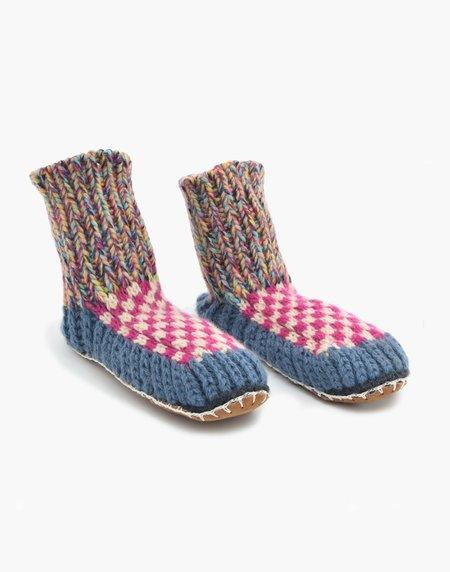 Ariana Bohling Berkley Knit Slipper sock - Blue