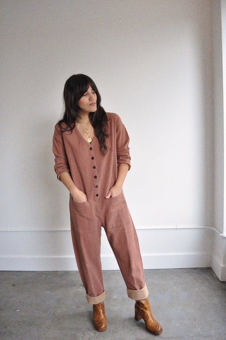 Rust Cotton Jumpsuit - Terracotta