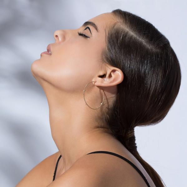 Shahla Karimi 14K Gold Birthstone Hoop Earrings