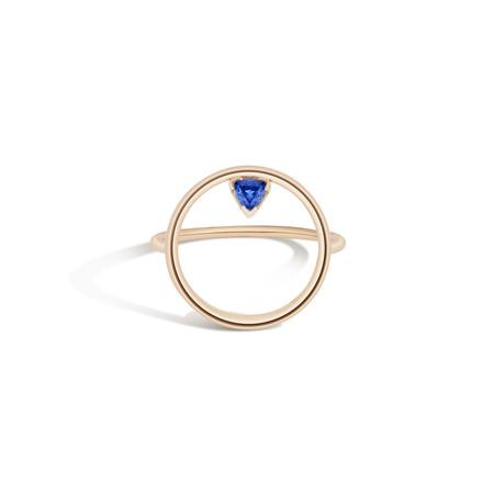 Shahla Karimi 14K Gold Birthstone Hoop Ring