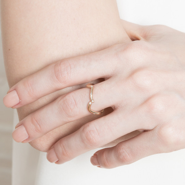 Shahla Karimi 14K Gold Subway Ring - Inwood to WTC