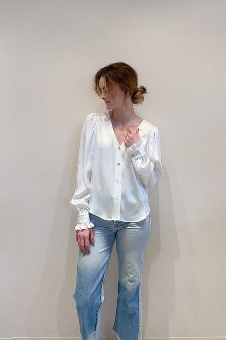 RG KANE Ruffle Sleeve Top - Ivory