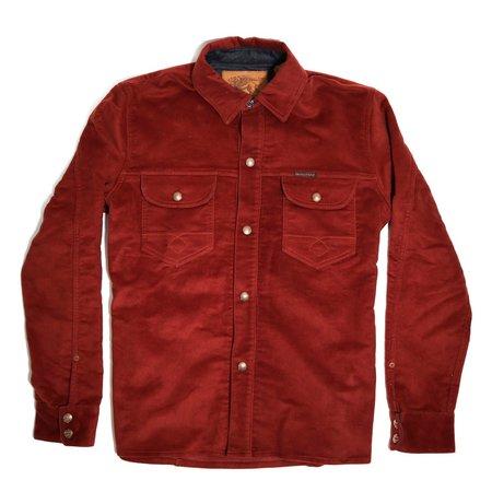 Indigofera Copeland Moleskin Shirt - Rust