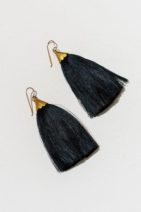 The Salt Empire Dusting Tassel Earrings - Brass