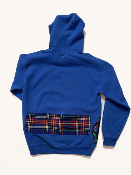 Katherine St. Paul Hill Vintage Patch Hoodie - Royal Blue
