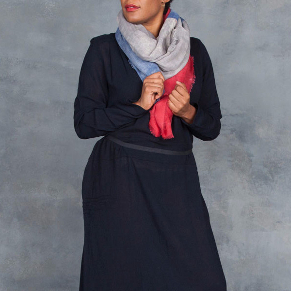 InouiToosh French Blue and Red Flag Scarf