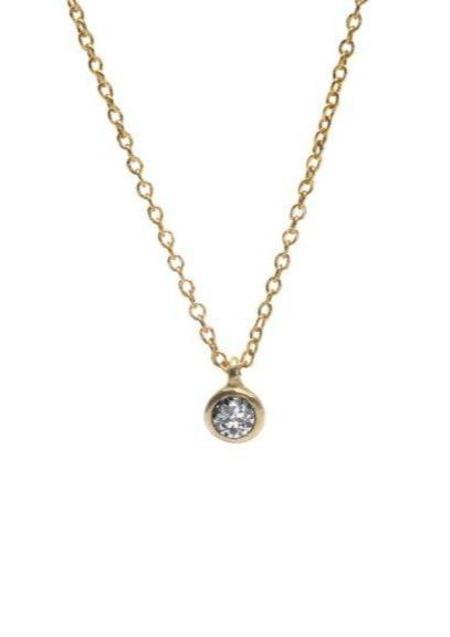 Gabriela Jewelry Classic Diamond Pendant - 14K Gold
