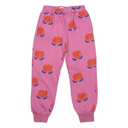 Kids Bobo Choses Sweatpants With All Over Chocolate Flowers Print - Pink