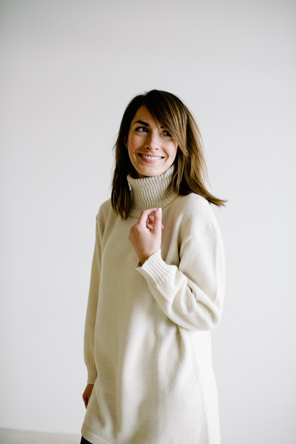 Osei-Duro Turtleneck Tunic - Cream