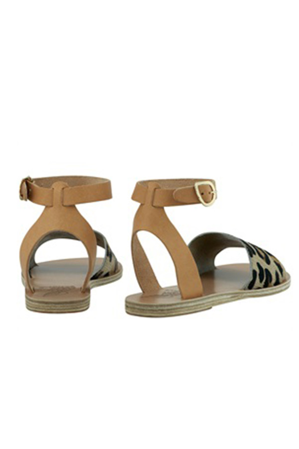 Ancient Greek Sandals Ancient Greek Pony Fur Sandal