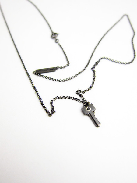 Lauren Klassen Tiny Key Necklace with Diamond