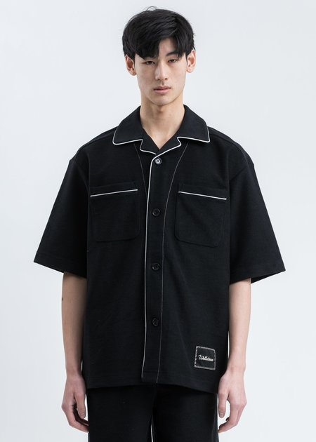 we11done Zurry Short Sleeve Pyjama Top - black