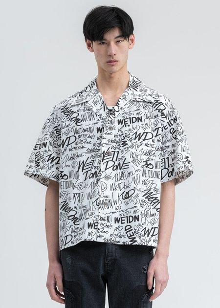 we11done Allover Logo Short Sleeve Shirt - White