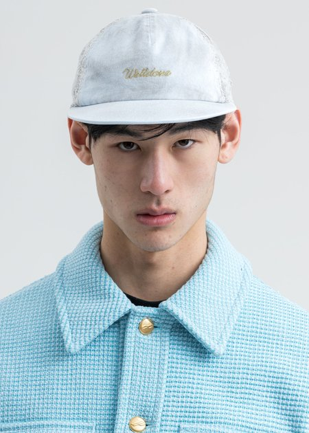 we11done Logo Lace Cap White