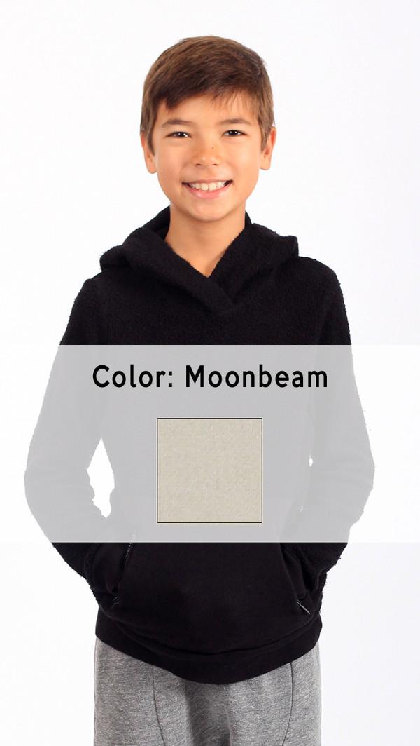 Kid's Mimobee Puffy Pullover Hoodie - Moonbeam