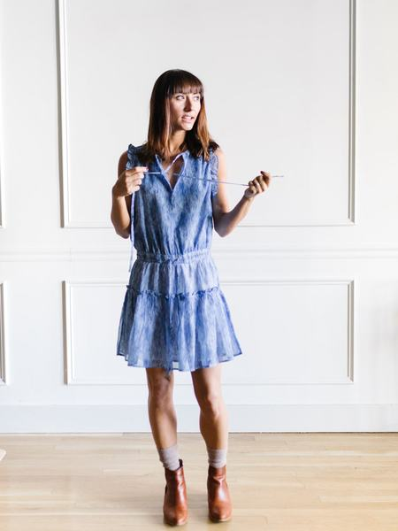 Pinch Tiered Mini Dress - Royal