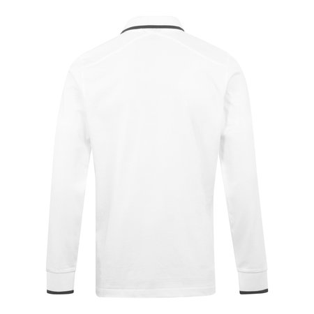 Ma Strum Tipped LS Polo Shirt - White
