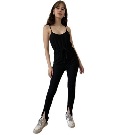 Lola Knit Jumpsuit - Black