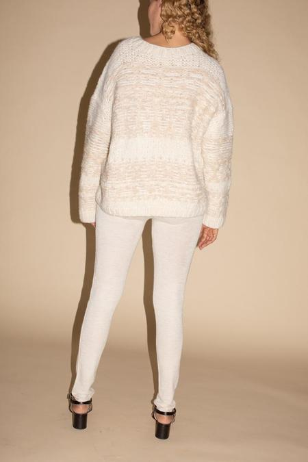 Lauren Manoogian Rib Leggings - White