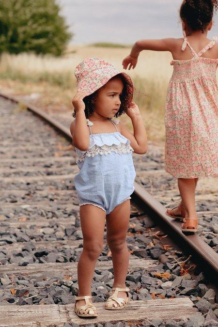 kids Louise Misha Maluna Romper - Chambray
