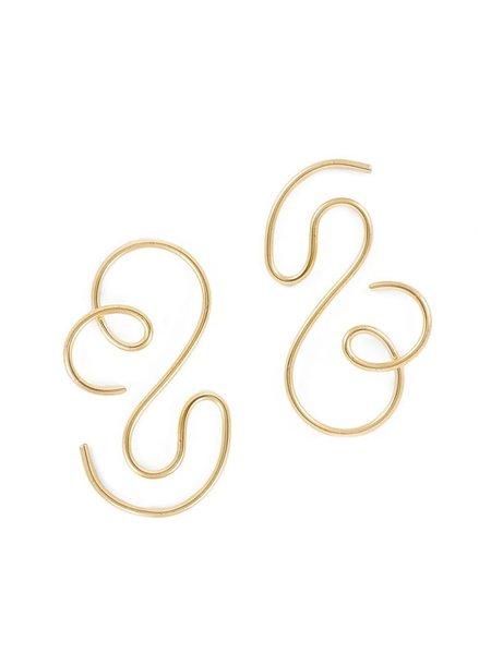Gilbert Contour Earrings - 14k gold plated over brass