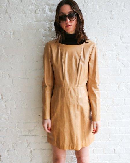[pre-loved] Chanel Leather Dress - Beige