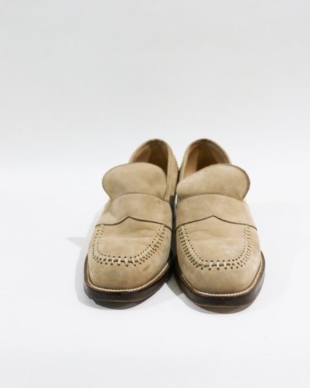 [pre-loved] Free Lance Whipstich Loafers - Beige