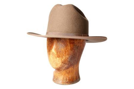 RRL Wool Felt Cattleman Hat - Silver Tan Mole