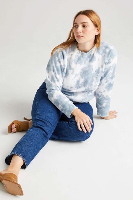 Richer Poorer Recycled Crew Sweatshirt - Blue Mirage Tie Dye