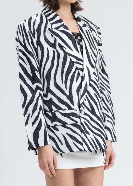 Ann Andelman Print Oversized Blazer - Zebra