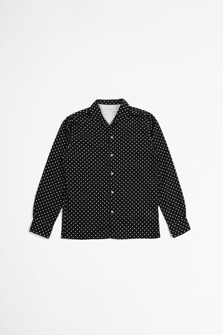 Officine Generale Dario Shirt - Peas Print Black/White