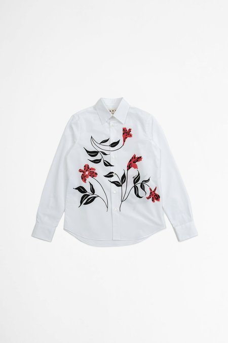 Marni Floral Printed Shirt - White
