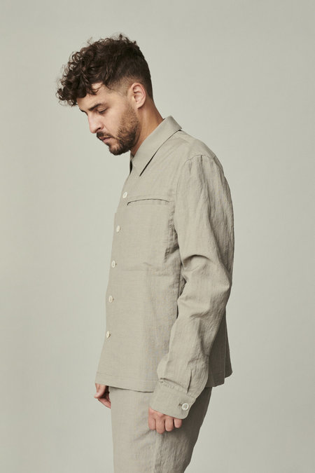 Delikatessen Linen/Virgin Wool Blend Relaxed Jacket