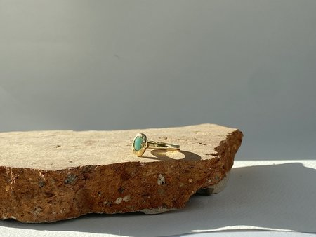 Mercurial NYC Isles Emerald Nugget Ring - gold
