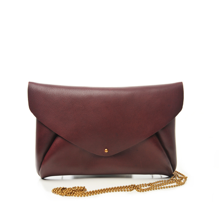 Petite Maison Christiane Burgundy Envelope Maxi Bag