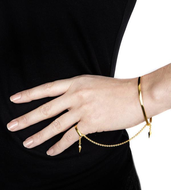 Rose Gold Philo Pinky Finger BraceletMaria Black