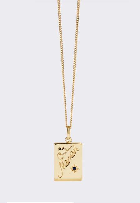 Meadowlark Maman Necklace - gold/dark blue sapphire
