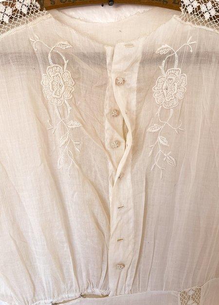 Vintage Victorian Lace Maxi Dress