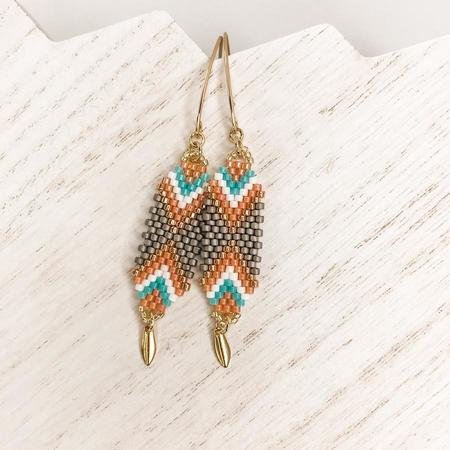 Made Community Interwoven Coral Drop Earrings