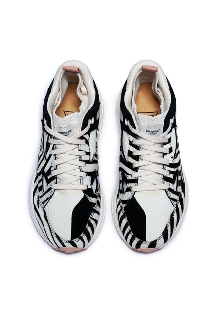 Brandblack Women's Aura Ponyhair sneakers - white/black/pony