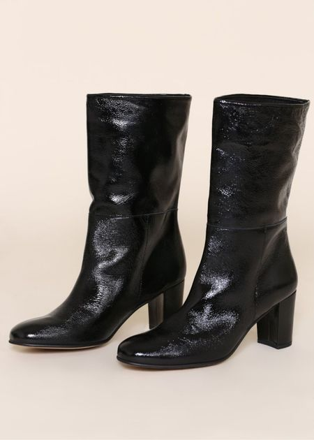 """""""INTENTIONALLY __________.""""  Pammy Mid-Height Boot - Black"""