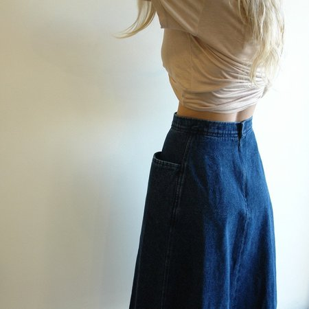 Carleen Denim Pocket Skirt