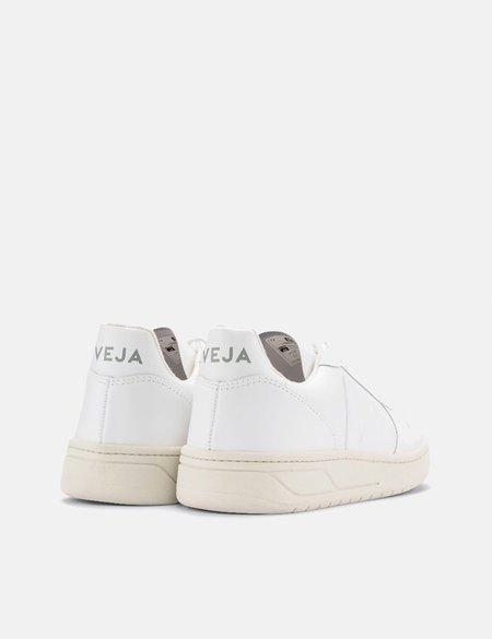 Veja V-10 Leather Trainers - Extra White/White