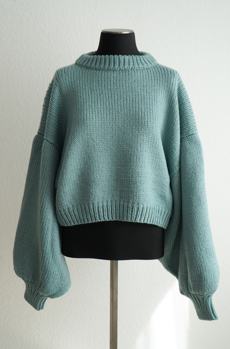 I love Mr Mittens Jackie Light Wool Sweater - Blue