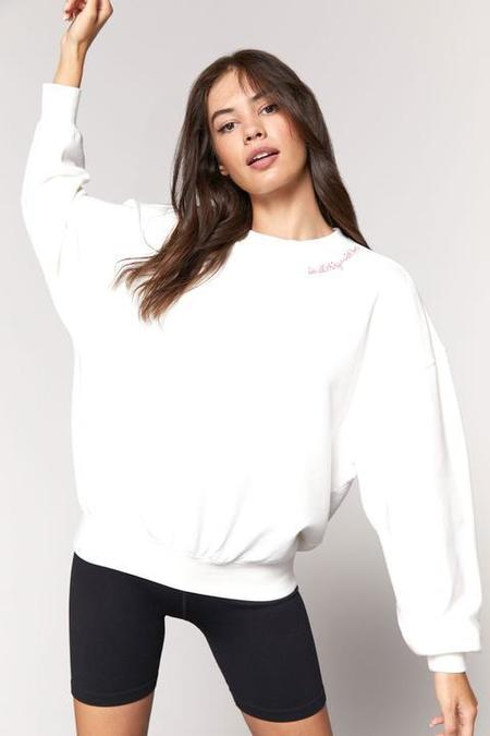 Spiritual Gangster Do All Things With Love Crew Pullover - Stone