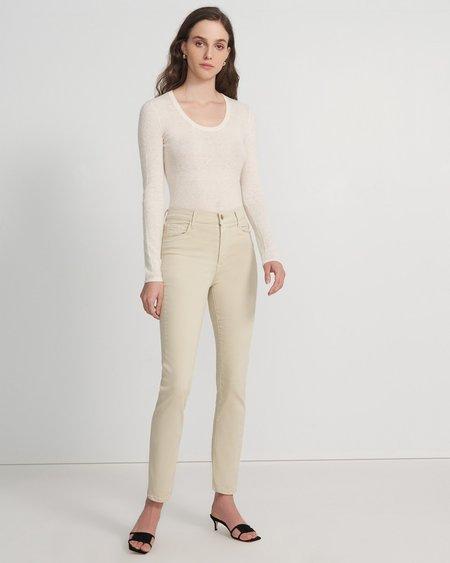 J Brand Teagan High Rise Slim Straight Jeans - Ayekroo