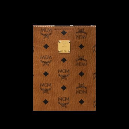MCM Luisa VI Leather Bag - Cognac