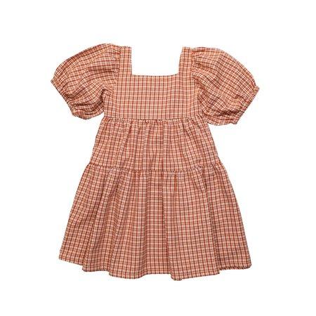 Kids The New Society Arlette Dress - Caramel Check